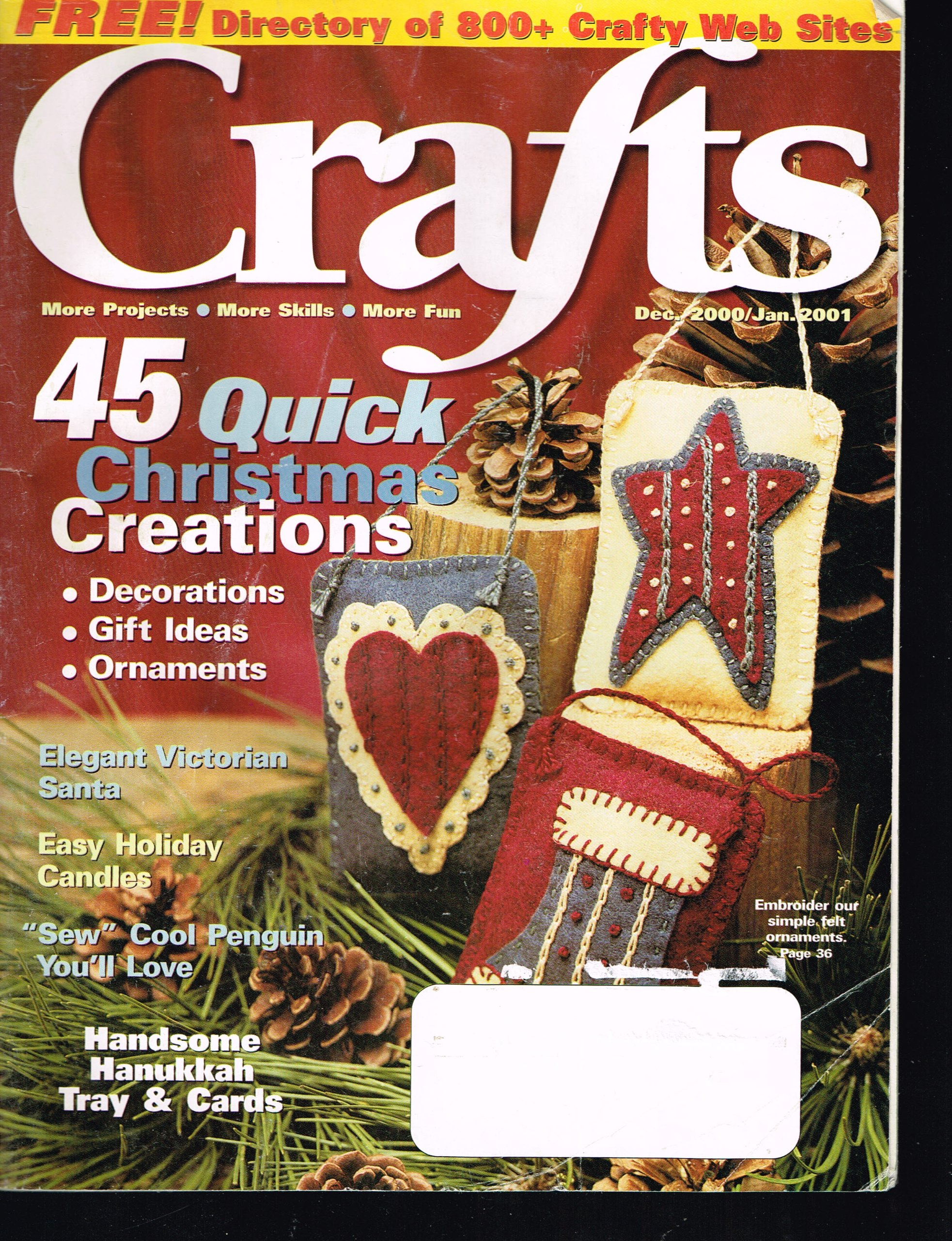 Download Crafts December 2000 / January 2001. 45 Quick Christmas Creations pdf epub