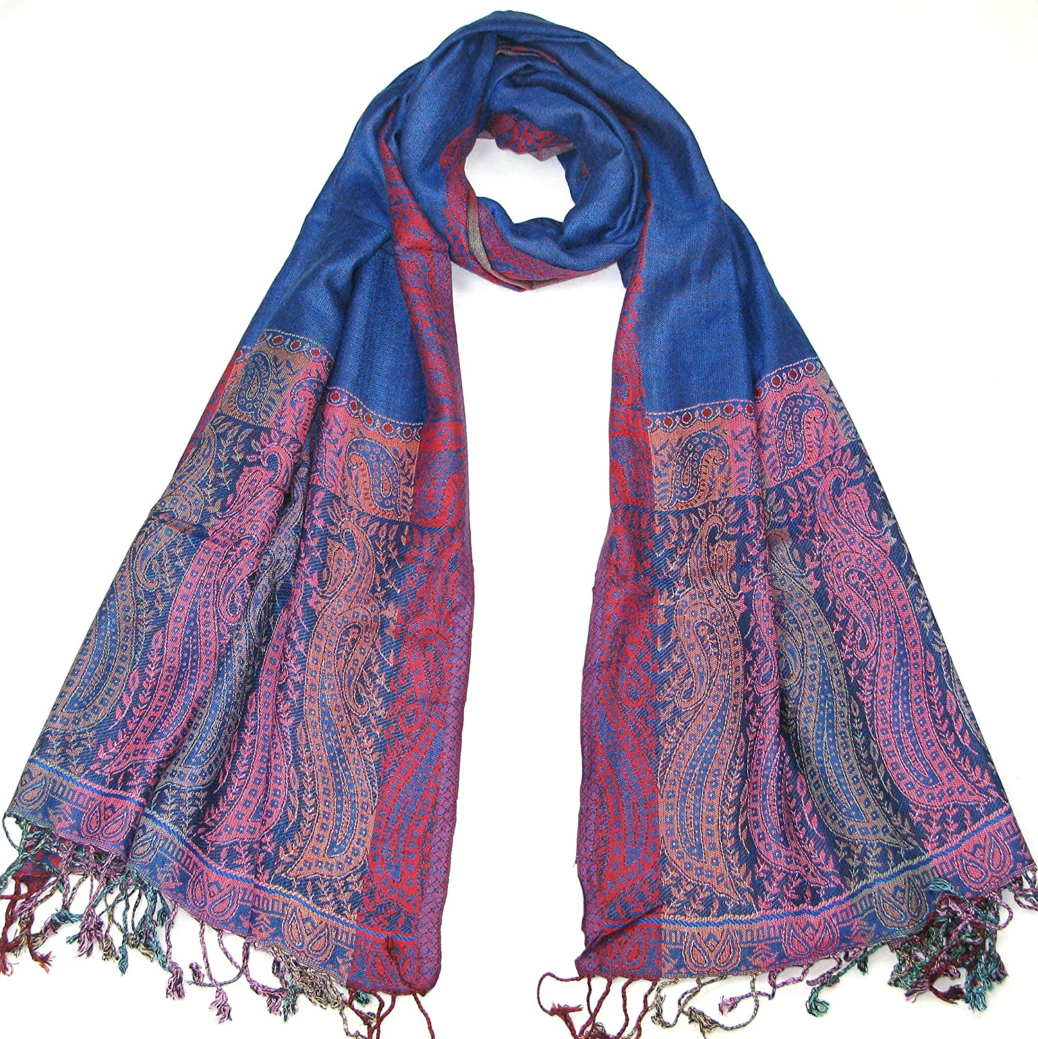 Lovarzi Women's Pashmina Scarf Shawl - Chic Paisley Scarves for Ladies & Girls