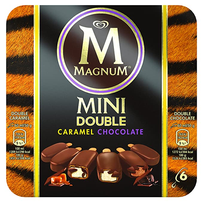 Magnum Mini Double - Helado de Chocolate y Caramelo, 360 ml