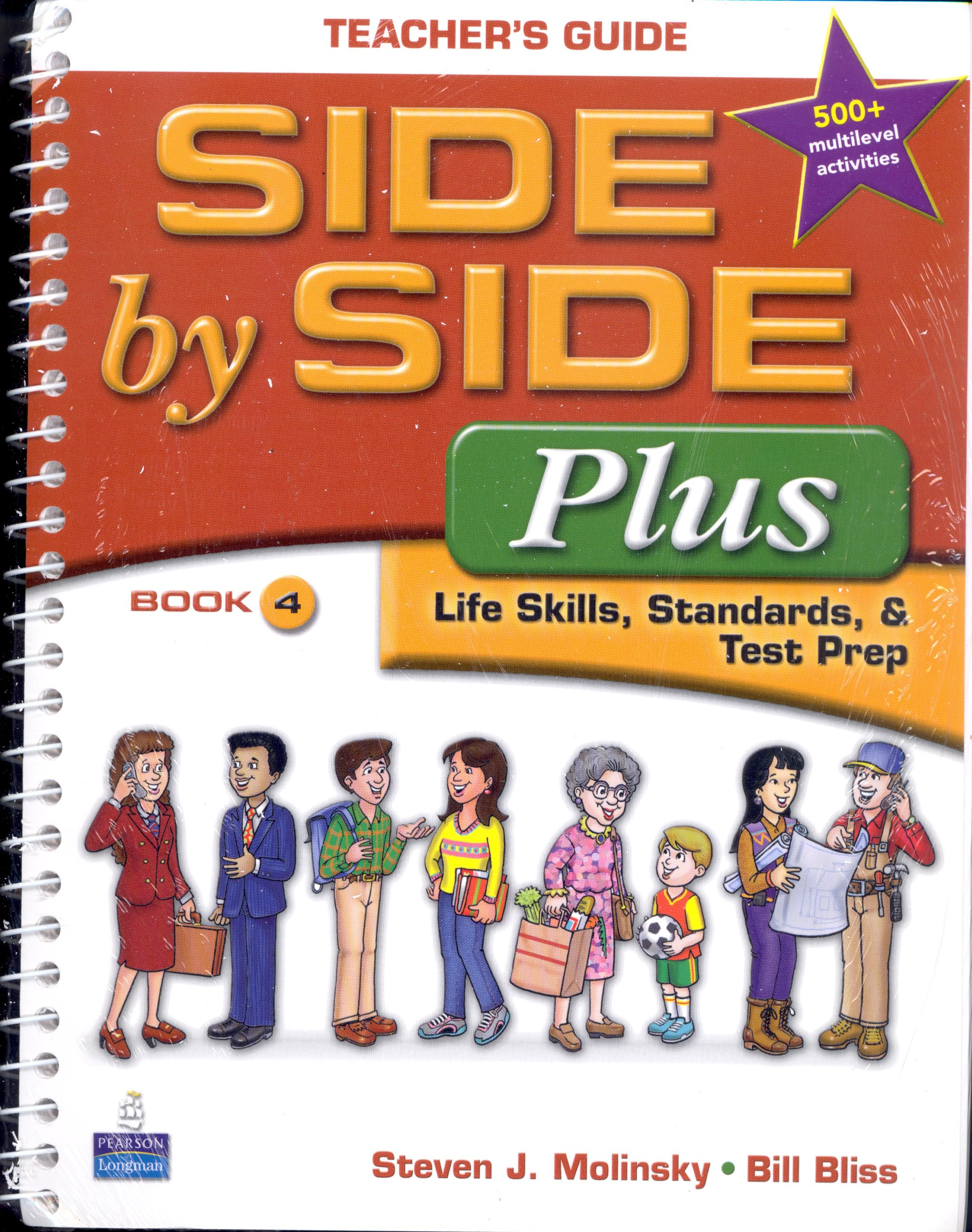 Side by Side Plus Level 4:Teacher's Guide with Multilevel Activity &  Achievement Test Book & CD-ROM (Side by Side Plus): Steven Molinsky:  Amazon.com: Books