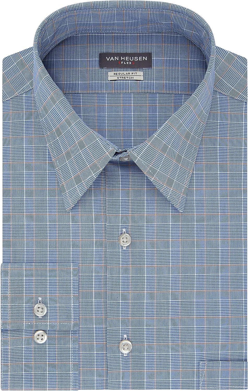 Van Heusen Camisa de Vestir para Hombre, Ajuste Regular, Cuello ...