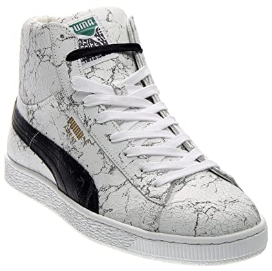 555f03a851f1 PUMA Mens States Mid X Alife Marble Athletic   Sneakers White