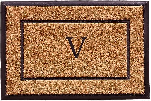 Home More 101632436V The General Monogram Doormat, Letter V