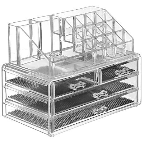 Amazoncom Saganizer Clear acrylic Jewelry organizer and makeup