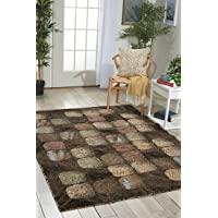Overstock.com deals on Nourison Modesto Charcoal Area Rug