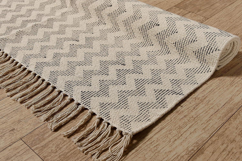 Indian Handmade  Rag Rug Home Floor Block Print Cotton Yoga Mat