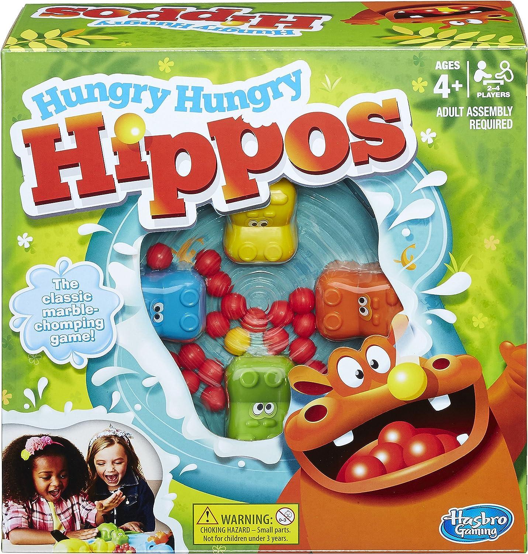 Hasbro Juguete de hipopótamos hambrientos, Multicolor (98936348)