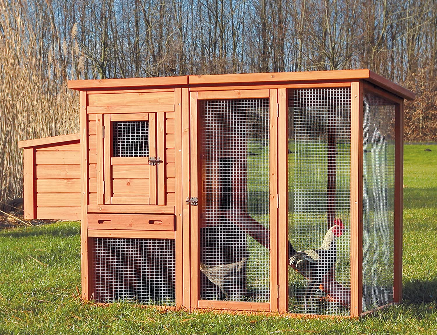 trixiemodel!!! @@@ 1 Amazon.com : TRIXIE Pet Products Chicken Coop with Outdoor Run, 66.75 x  30.25 x 41.25 inches : Patio, Lawn & Garden