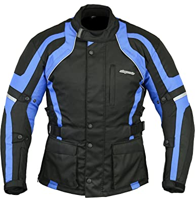 RKSports WATERPROOF MOTORCYCLE MOTORBIKE JACKET BLACK CE ARMORS