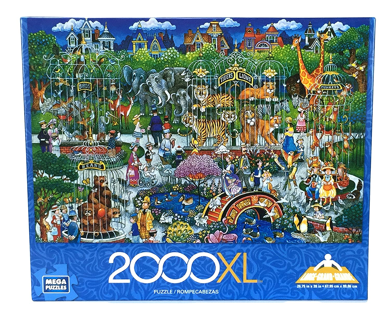 Mega Jigsaw Puzzles Victorian Zoo Jigsaw Mega Puzzle, 2000 Pieces a47092