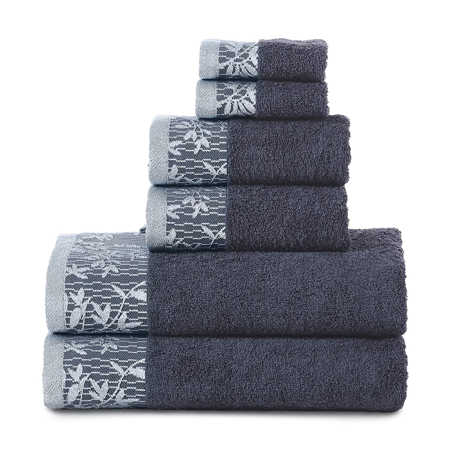 Superior Wisteria 6 Piece Cotton Towel