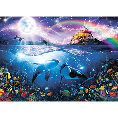 Ocean Magic Collection Paternoster Rainbow Jigsaw Puzzle, 1000 Pieces: Toys & Games