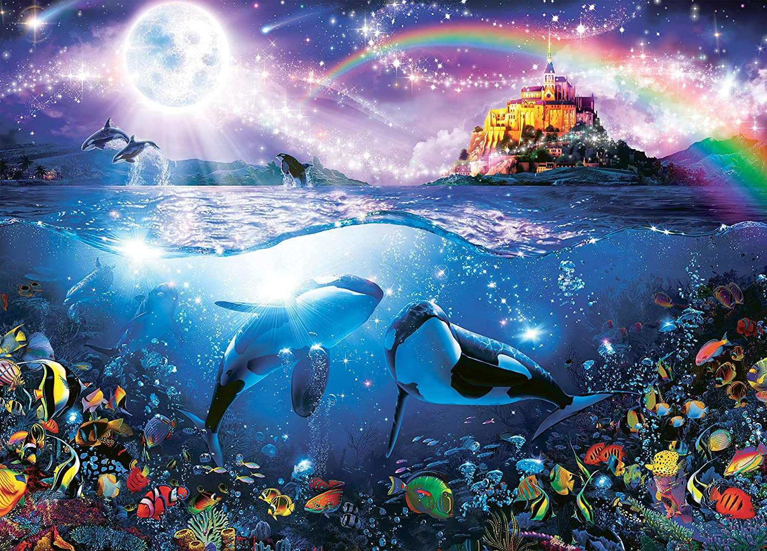 Ocean Magic Collection Paternoster Rainbow Jigsaw Puzzle 1000 Pieces