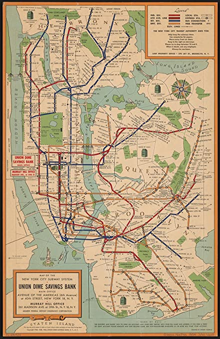 Map Of Old New York.Amazon Com 8 X 10 Reprinted Old Vintage Antique Map Of C 1954 Map