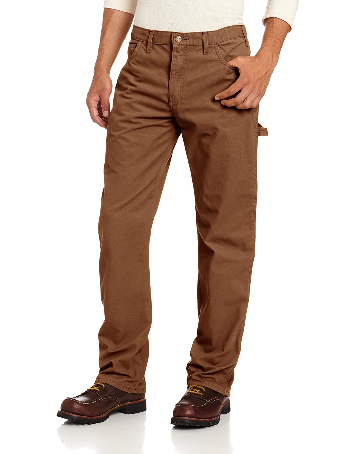 Dickies Men's Relaxed Straight-Fit Lightweight Duck Carpenter Jean DU250