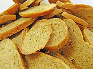 Low Carb Sea Salt and Garlic Bagel Chips - Fresh Baked - LC Foods - All Natural - No Sugar - High Protein - Diabetic Friendly - Low Carb Bagel Chips
