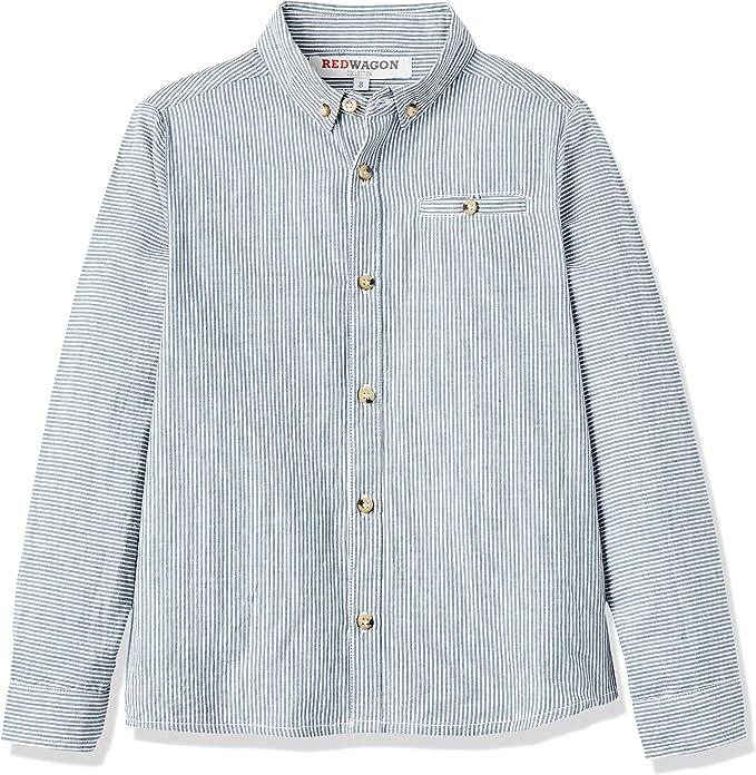 REDWAGON Stripe Shirt - camisa Niños, Azul (Blue), 4 años: Amazon.es: Ropa y accesorios