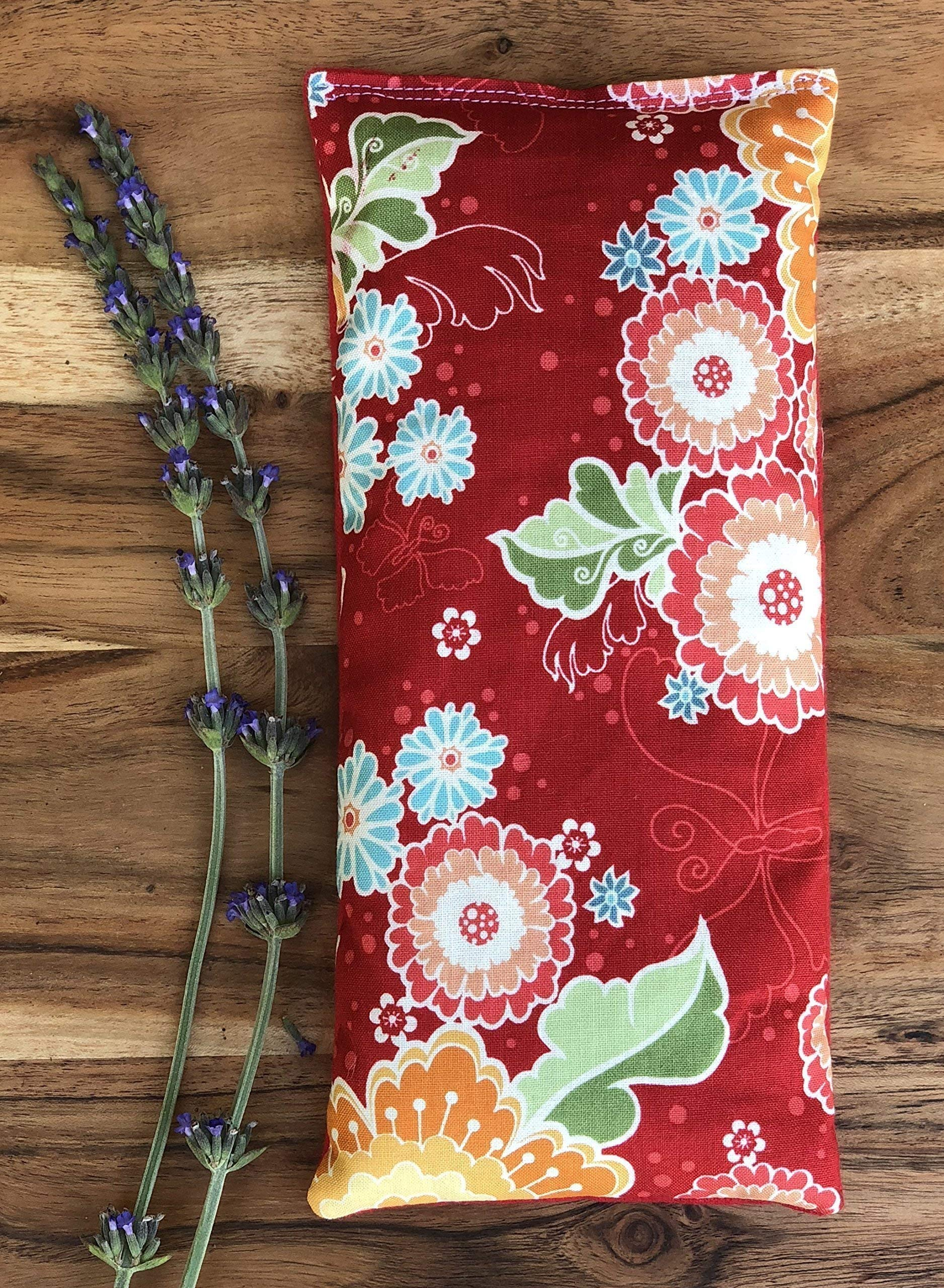 Microwave Heating Pad with Flax Seed and Dried Lavender