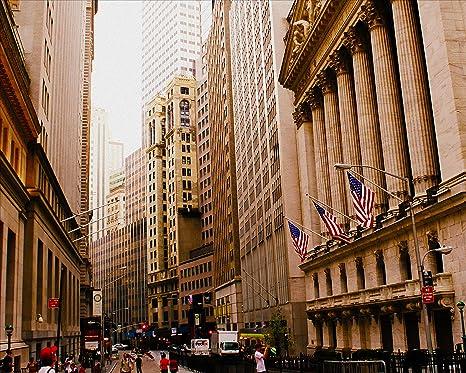Amazon.com: Póster de Nueva York Wall Street Distrito ...
