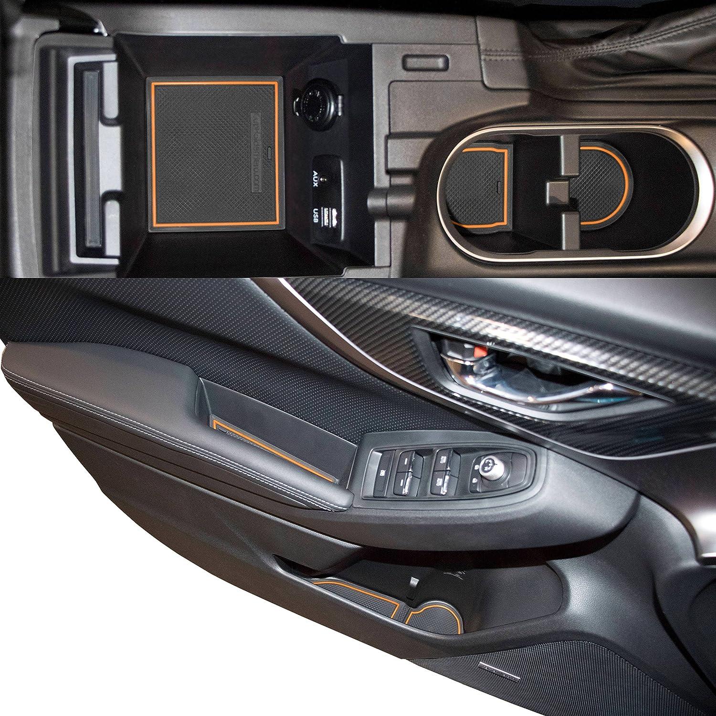 Custom Fit Cup Holder And Door Liner Accessories For 2006 Subaru Impreza Fuse Box 2018 2019 Crosstrek 14 Pc Set Orange Trim Automotive
