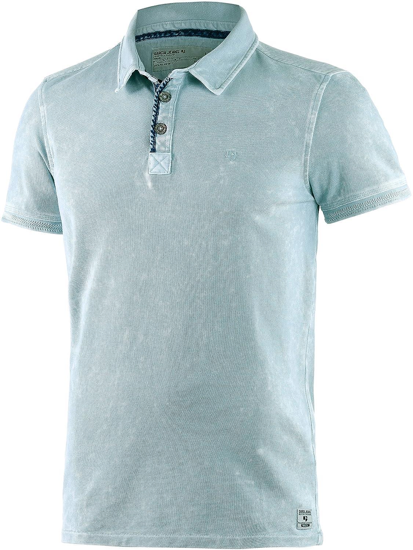 Garcia Men's Slim T-Shirt Blue Blue Sea