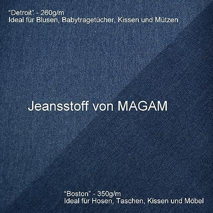MAGAM-Stoffe   Detroit   in 5 Farben   Jeans-Stoff   100% Baumwolle Öko-TEX  Qualität   Meterware ab 50cm   QX-9-6 (05. Schwarz)  Amazon.de  Küche    Haushalt d494e6fe98