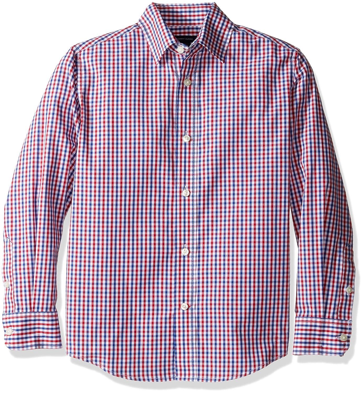 Tommy Hilfiger boys Big Boys Alternating Gingham Shirt T871018