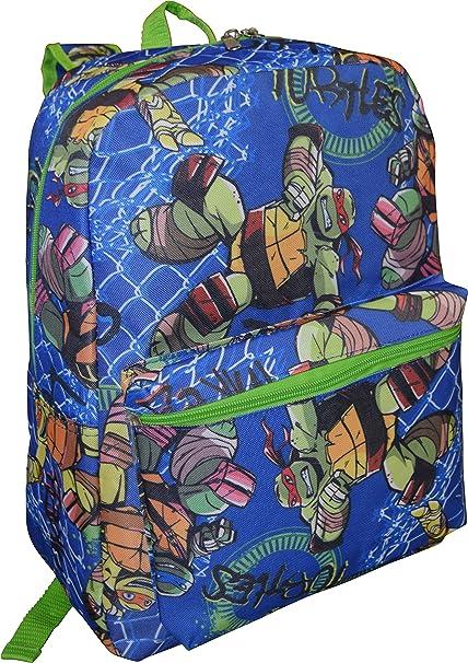 "Amazon.com: Nickelodeon 16"" Mochila de las Tortugas ..."