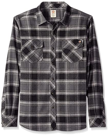 ba70cefb4e958 Dickies Men s Relaxed Fit Long Sleeve Brawny Flannel Shirt