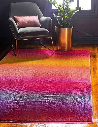 Unique Loom Estrella Collection Colorful Abstract Multi Area Rug 10' 6 x 16' 5
