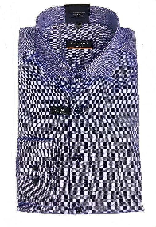 Eterna Camisa (sin planchar) Hombre Mod. Slim Fit azul azul claro 40: Amazon.es: Ropa y accesorios