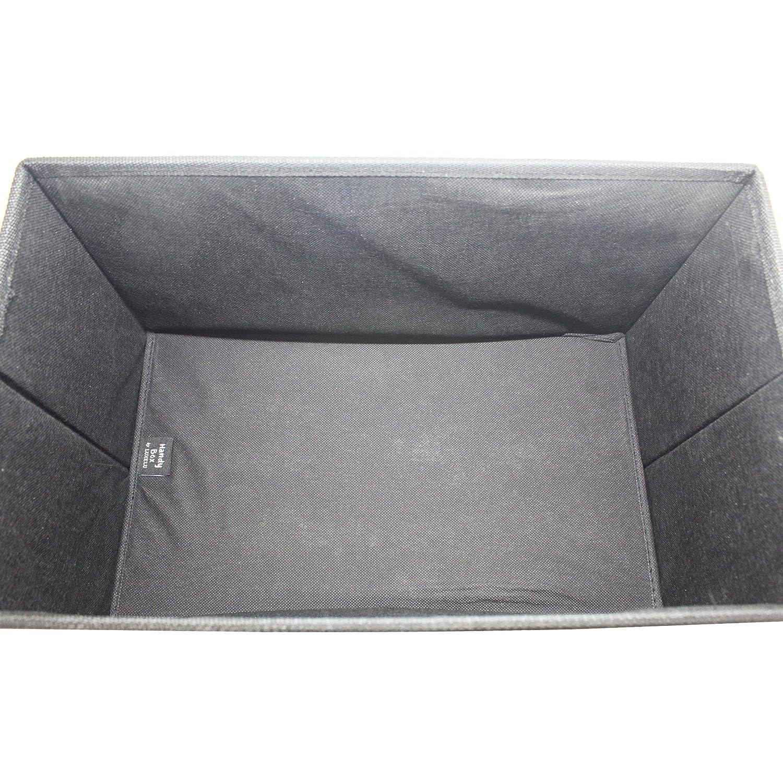 Cajas de almacenamiento de tela Peque/ña caja de almacenamiento con tapa Taburete de pie // Pouffee con almacenamiento Verde oliva Oblong Olive Green Handy Box de Luxelu