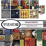Reminisce (REMBC) Wizard 102 Scrapbook Collection Kit, 12-x-12-Inch, Multi Color Palette