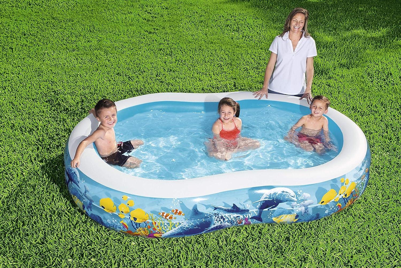 BESTWAY 54118 Piscina Hinchable Infantil Fondo Marino, 262x157x46 cm: Amazon.es: Juguetes y juegos