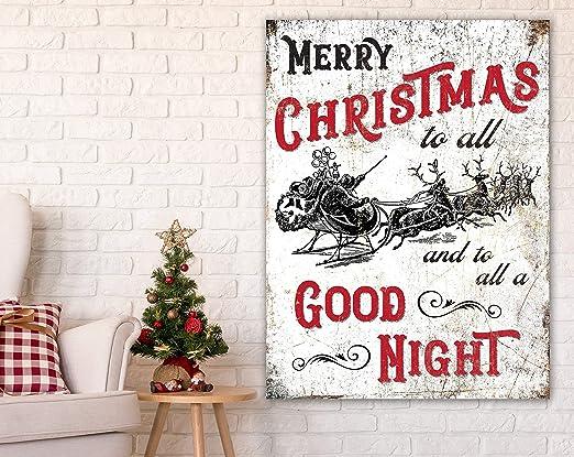 Cartel Grande de Navidad con diseño de Trineo de Papá Noel y ...