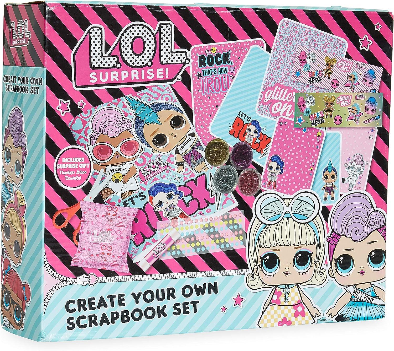 Incluye Scrapbooking Materiales de Las Mu/ñecas LOL Album Fotos Scrapbook Pegatinas Infantiles Surprise Regalos Originales para Ni/ños L.O.L Kit de Manualidades Ni/ños Scrapbooking