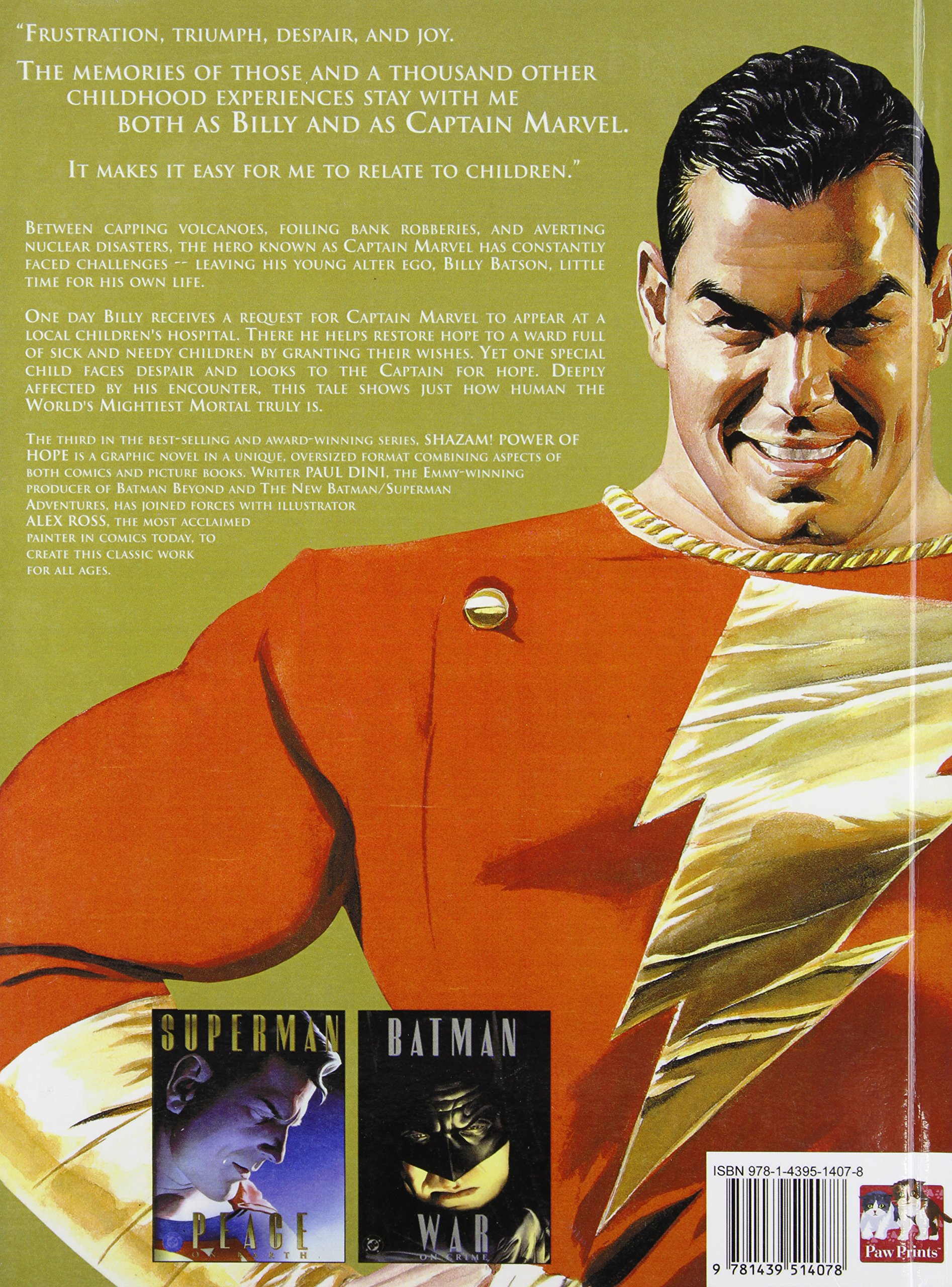 Shazam Power of Hope DC Treasury Edition Promo Poster 39x26 Brand New Alex Ross
