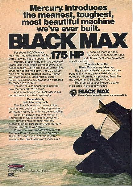 Amazon com: Magazine Print Ad: Mercury Black Max 175 HP
