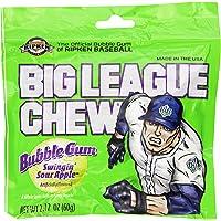 Big League Chew, Swingin' Sour Apple Bubble Gum, 2.12-Ounce Pouches (Pack of 12)