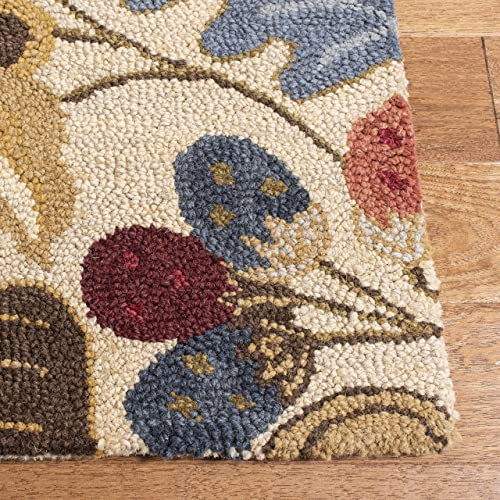 Safavieh Jardin Collection JAR952A Handmade Beige and Multi Premium Wool Runner 2 3 x 8