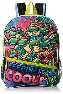 "Teenage Mutant Ninja Turtles Little Girls Keepin It Cool 16"" Backpack, Green/Pink, 16"