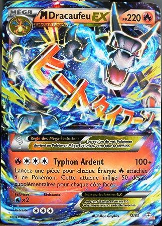Carte Pokémon 1283 M Dracaufeu Ex 220 Pv Ultra Rare