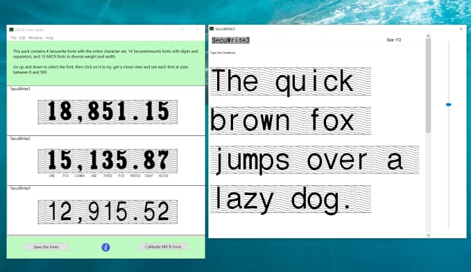 Amazon com: MICR Font Suite [Download]: Software