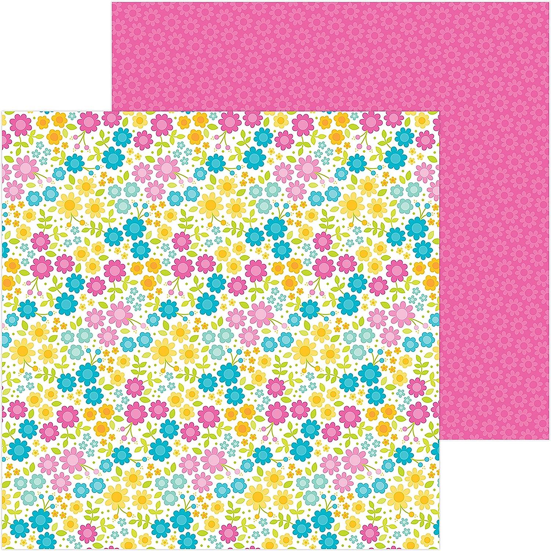 Doodlebug 5970 Sweet - Tarjeta de de Tarjeta doble cara, 30,5 x 30,5 cm, diseño de paraíso de verano, multicolor bf8022