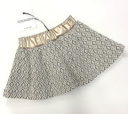 half off 33af2 92ec9 Coconudina Baby Girls' Skirt Gold Bianco e oro - Gold - 30 ...