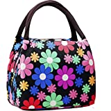 Cute Colorful Nylon Zipper Portable Cosmetic Lunch Picnic Handbag Bag