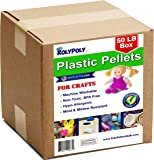 Poly Pellets Bulk for Weighted Blankets, Bean Bags Bulk Box (50 LBS) Non-Toxic, Premium Quality Made in the USA for Rock Tumbling, Stuffing & Filling Dolls, Crafts, Corn Hole Bags