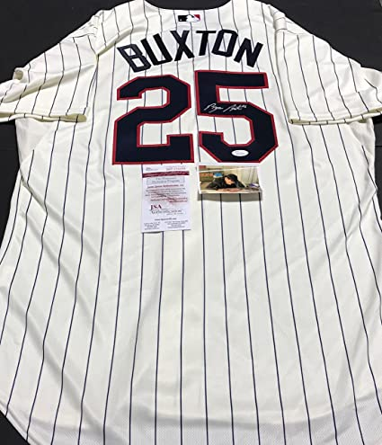 buy popular f8d0a 1445a Byron Buxton Minnesota Twins Autographed Signed Authentic ...