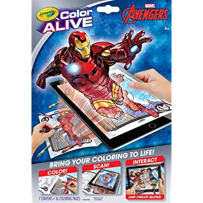 Crayola Avengers Color Alive Action Coloring Pages: Toys & Games