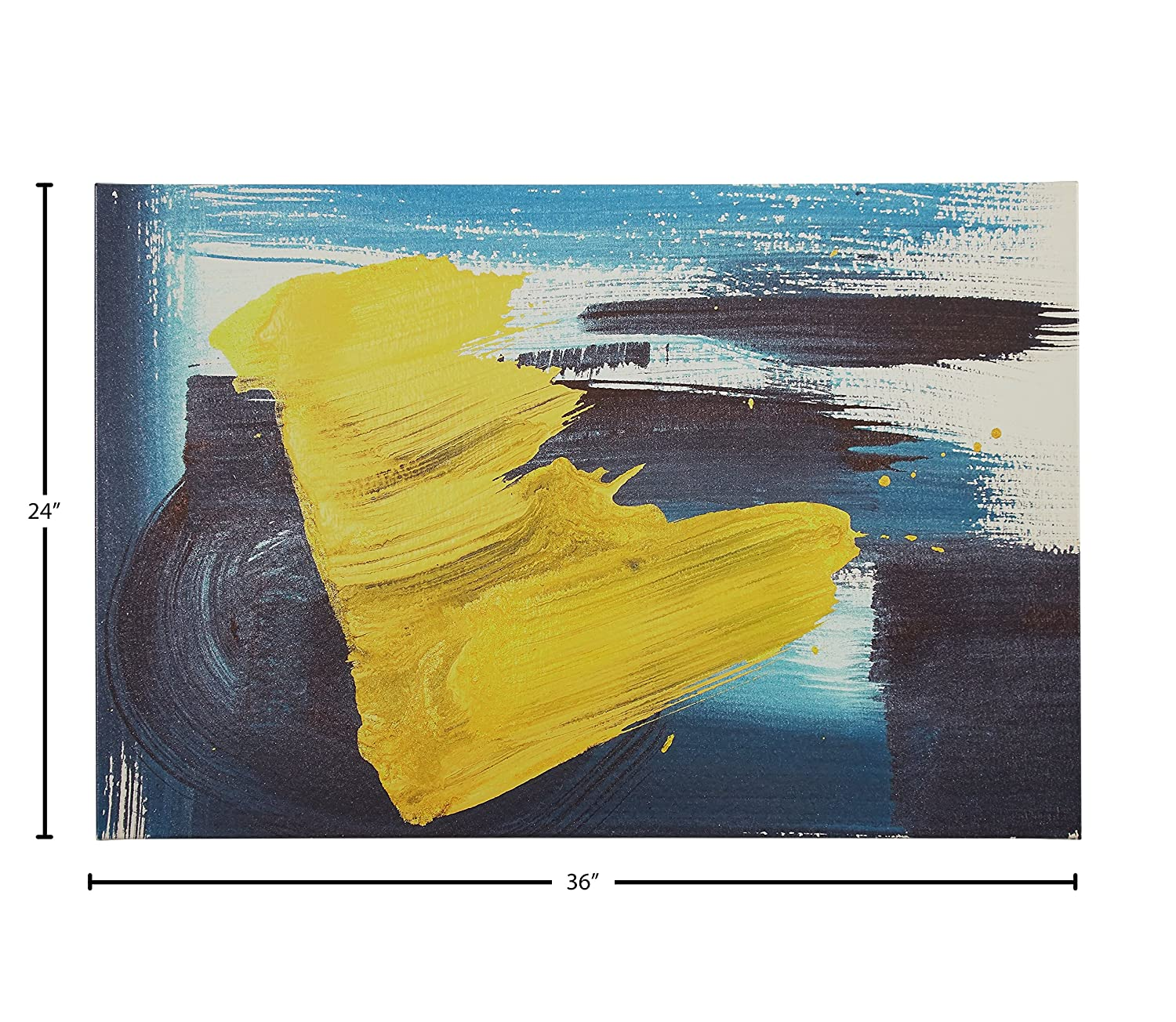 Amazon.com: Rivet Abstract Brushed Blue and Yellow Canvas Print, 36 ...